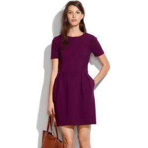 Madewell Gallerist purple pointe fit flare dress